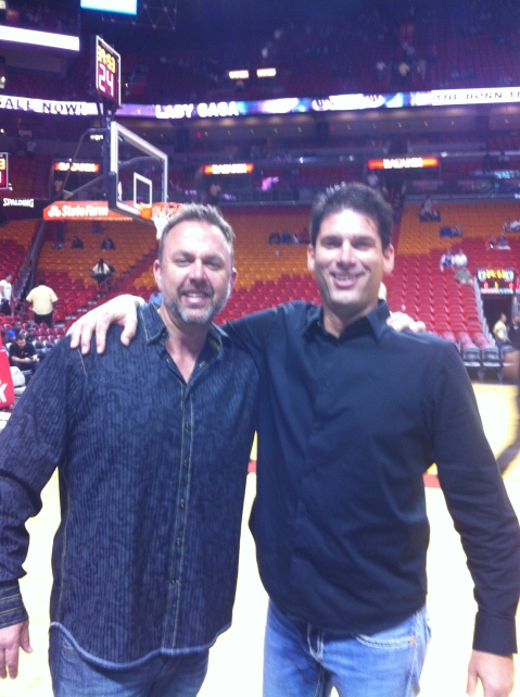 Michael Wagner Court Side Miami Heat